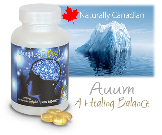Auum Omega 3 Harp Seal Oil D Boost