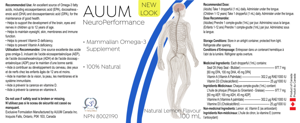 Auum-NeuroPerformance Label